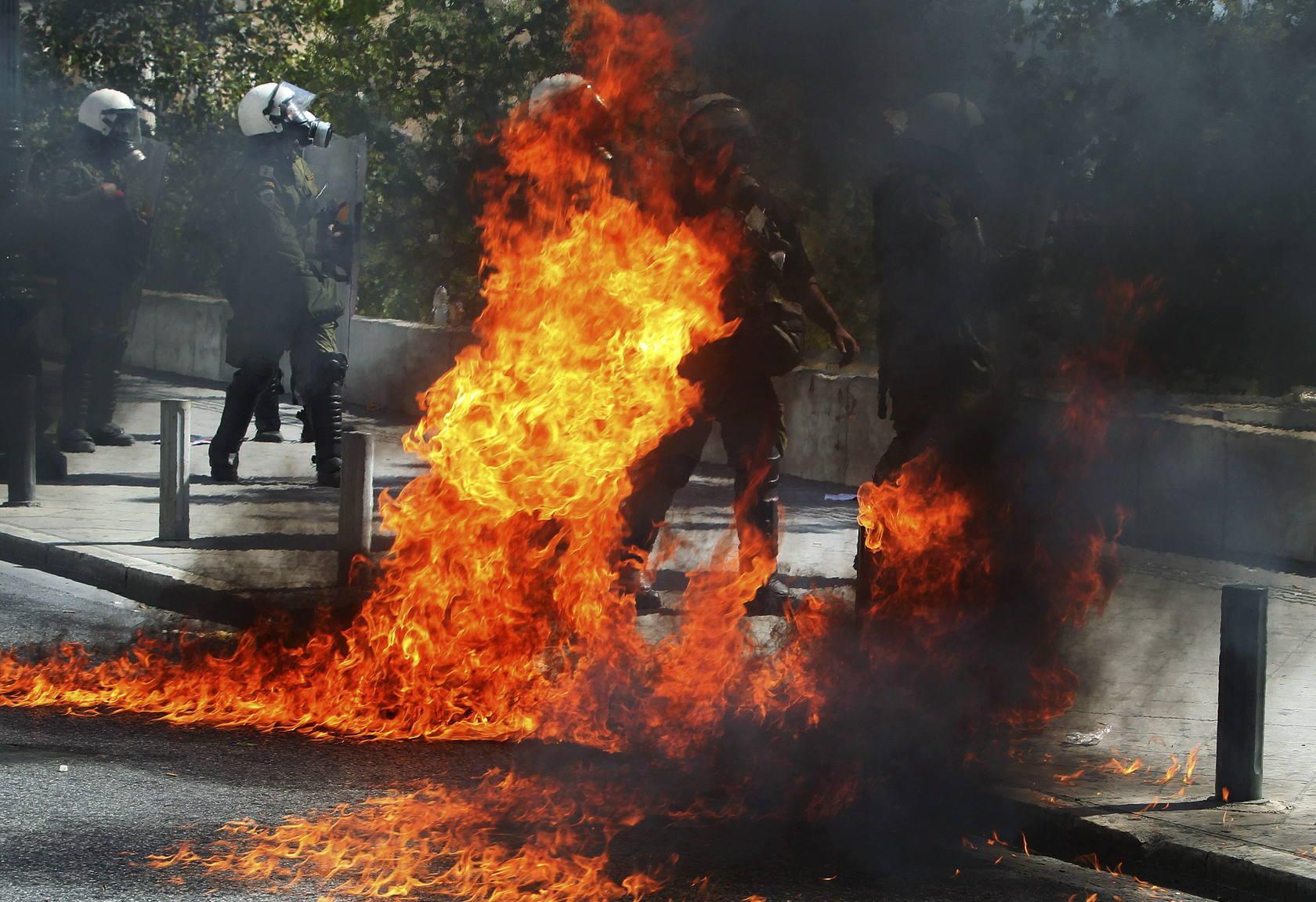 Huelga general por los recortes en Grecia